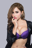 Young beautiful sexy Asian woman wearing elegant lingerie Royalty Free Stock Photo