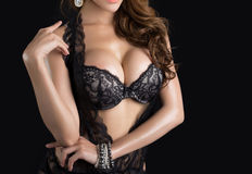 Young beautiful Sexy Asian woman wearing elegant lingerie Stock Image