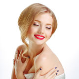 Young beautiful sexy blonde Stock Photo