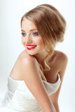 Young beautiful sexy blonde with stylish make-up Royalty Free Stock Images