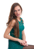 Young beautiful sexy brunette smiling woman Royalty Free Stock Photos