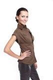 Young beautiful smiling stylish woman Stock Photo