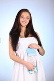 Young beautiful sexy and stylish pregnant woman Stock Photos