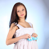 Young beautiful sexy and stylish pregnant woman Stock Photography