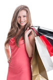 Young and beautiful shopping lady Royalty Free Stock Photo