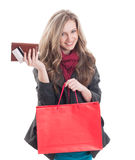Young and beautiful shopping lady Royalty Free Stock Photos