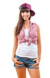 Young beautiful slim girl portrait Royalty Free Stock Photo