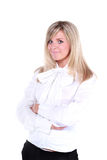Young beautiful smiling blond buisinesswoman Stock Photography