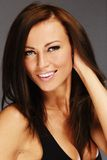 Young beautiful smiling brunette Royalty Free Stock Photography