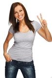 Young beautiful smiling brunette Stock Images
