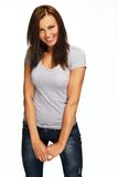 Young beautiful smiling brunette Stock Photo