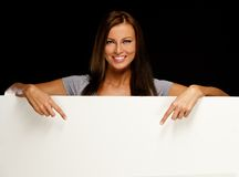 Young beautiful smiling brunette Royalty Free Stock Images