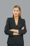 Young beautiful smiling business woman Royalty Free Stock Photos