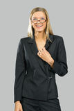Young beautiful smiling business woman Stock Photos