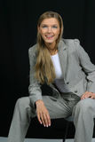 Young Beautiful Smiling Business Woman Royalty Free Stock Image