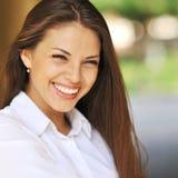Young beautiful smiling girl - closeup Stock Images