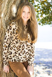 Young beautiful smiling girl, outdoor shot Royalty Free Stock Images