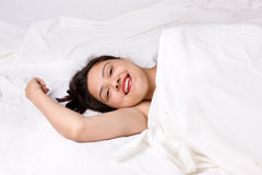 Young beautiful smiling girl taking rest Royalty Free Stock Images