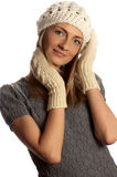 Young beautiful smiling girl in winter clothes Royalty Free Stock Photography