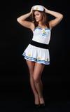 Young beautiful smiling sailor woman Stock Photography