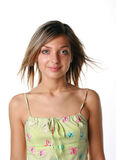 Young beautiful smiling woman. Isolated over white background Royalty Free Stock Image