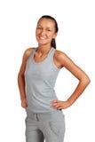 Young beautiful smiling women in sport wear Stock Photos