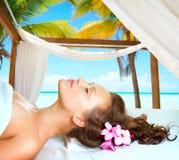 Young Beautiful Spa Woman stock photos