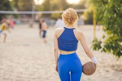 Volleyball player portrait Royalty Free Stock Photography