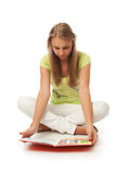 The young beautiful student with the book Stock Images