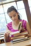 Young beautiful student in college Royalty Free Stock Photography