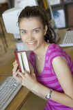 Young beautiful student in college Royalty Free Stock Images