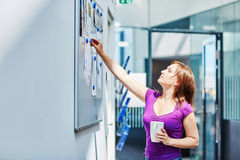 Young beautiful student at college or university Stock Images
