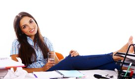 Young and beautiful student girl Royalty Free Stock Images