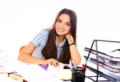 Young and beautiful student girl Stock Photo