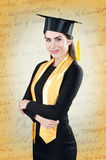 Young beautiful student graduation portrait Royalty Free Stock Photography