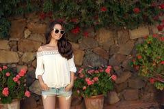Young beautiful stylish girl Royalty Free Stock Image