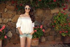 Young beautiful stylish girl Stock Images