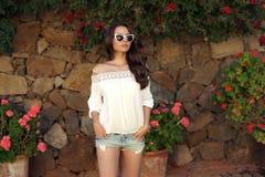 Young beautiful stylish girl Royalty Free Stock Photography