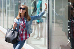 Young beautiful stylish girl in sunglasses Royalty Free Stock Photo