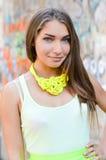 Young beautiful stylish woman street fashion Royalty Free Stock Images