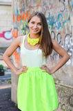 Young beautiful stylish woman street fashion Stock Photo