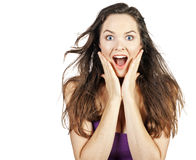 Young beautiful surprised woman Stock Image