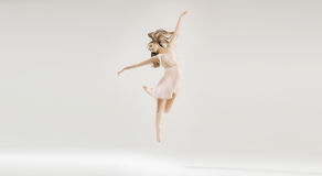 Young beautiful and talented ballet dancer Stock Images