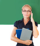 Young beautiful teacher Royalty Free Stock Photo