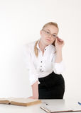 Young beautiful teacher woman Royalty Free Stock Photos