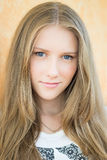 Young beautiful teenage girl portrait - headshot. Young beautiful teenage girl looking at camera - head shot royalty free stock photos