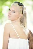 Young and beautiful teenage girl at summer Stock Photo