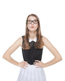 Young beautiful teenager girl in glasses Royalty Free Stock Image