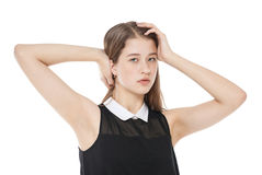 Young beautiful teenager girl isolated Royalty Free Stock Image