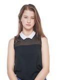 Young beautiful teenager girl isolated Stock Photos